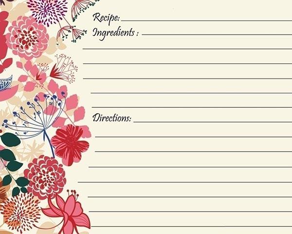 Сторінки для запису рецептів