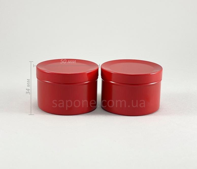 Баночка БА50-6 алюм. Цилиндр (красная без окошка), 50 мл - 1