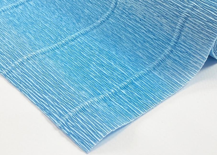 Креп-бумага гофрированная (голубая) - 1