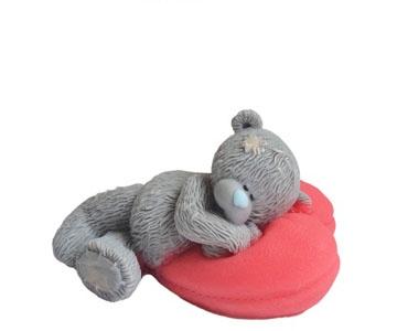 """Форма Люкс """"Тедди на подушке-1"""" 3D - 1"""