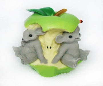 """Форма Люкс """"Мышки в яблоке""""  3D - 1"""