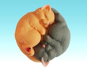 """Форма Люкс """"Інь-Янь коти"""" 3D - 1"""
