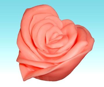 """Форма Люкс """"Серце-Троянда"""" 3D - 1"""