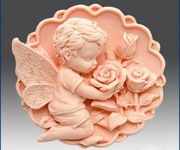 """Форма Люкс """"Ангелочек с розами"""" 2D - 1"""