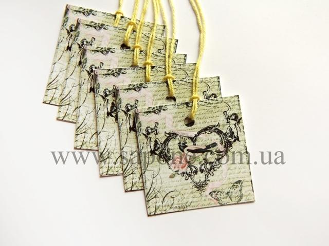 Бирка декоративная Handmade №005 - 1