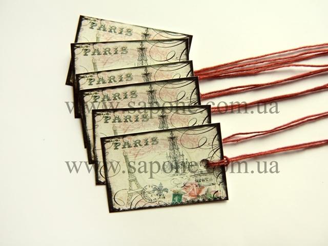 Бірка декоративна Paris №001 - 1