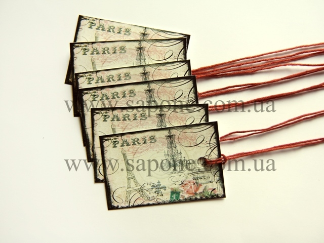 Бирка декоративная Paris №001 - 1
