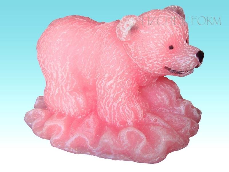 """Форма Люкс """"Мишка на льдине"""" 3D - 1"""