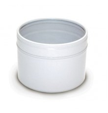 Баночка БА100-3 алюм.Цилиндр (белая с окошком), 100 мл - 1