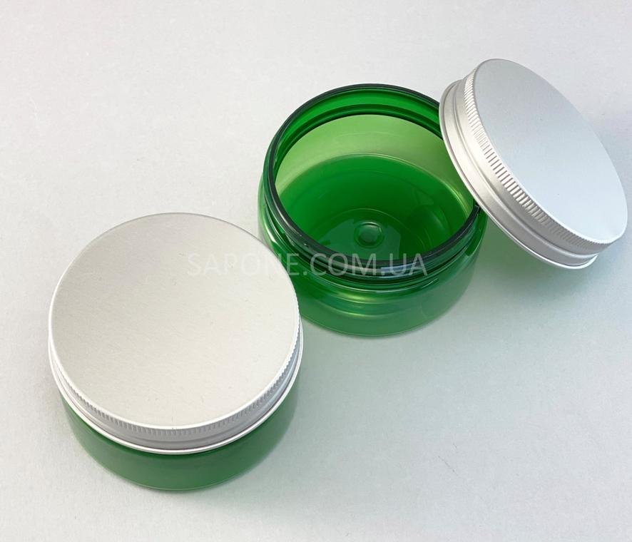 Баночка БП100-4 пластик (зеленая с алюм.крышкой), 100 мл - 2