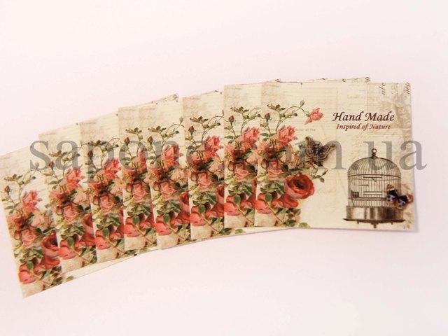 Бирка декоративная Handmade №010 - 1
