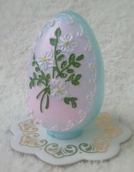 """Форма Люкс """"Яйцо с цветами"""" 3D - 1"""