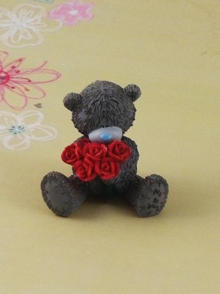 """Форма Люкс """"Міні-тедді з букетом троянд"""" 3D - 1"""
