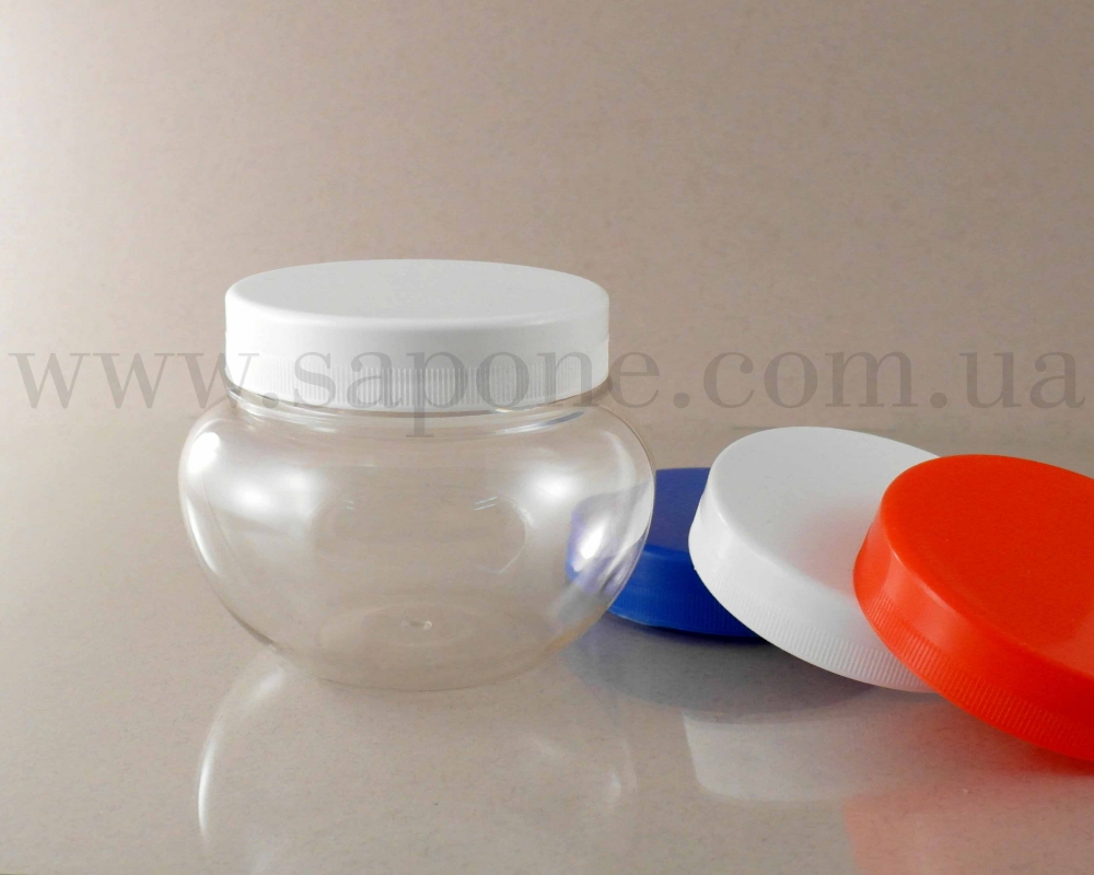 Баночка БП180-2 пластик (круглая), 180 мл (белая крышка) - 2