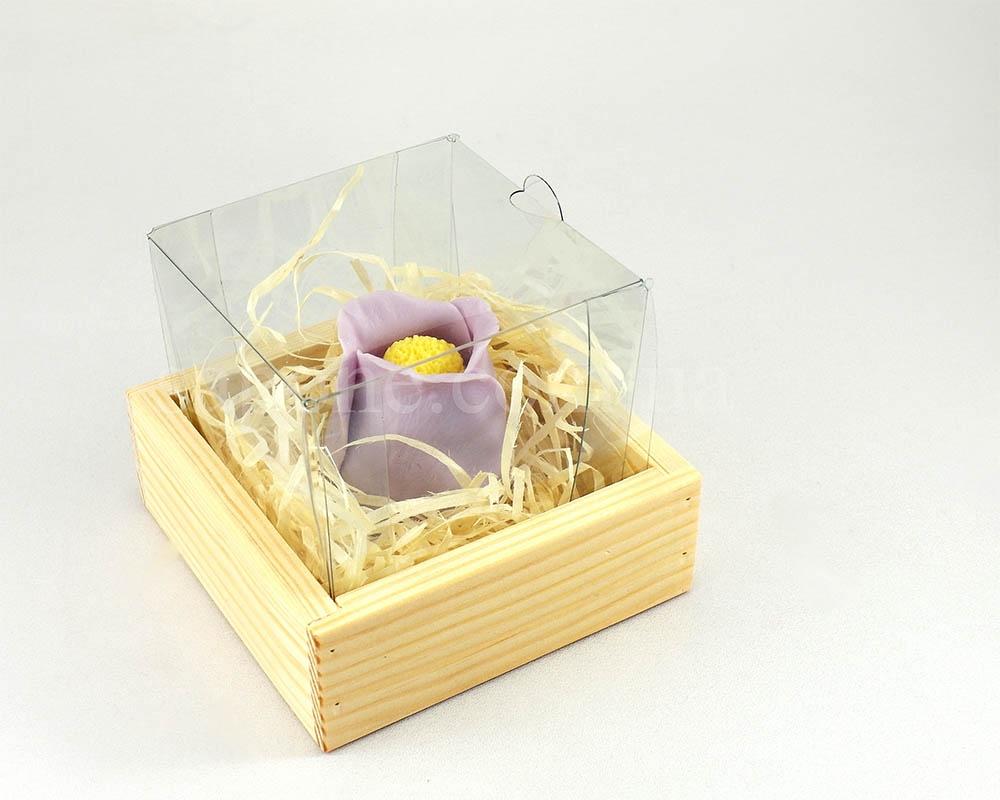 Коробка деревянная с прозрачной крышкой №1 (1 шт) - 1