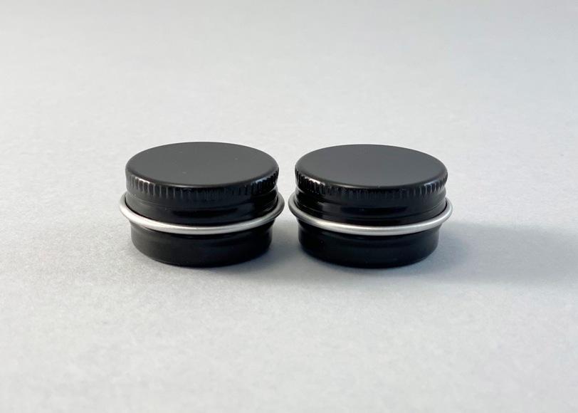 Баночка БА05-2 алюм.(с винтовой крышкой)(черная), 5 мл - 1