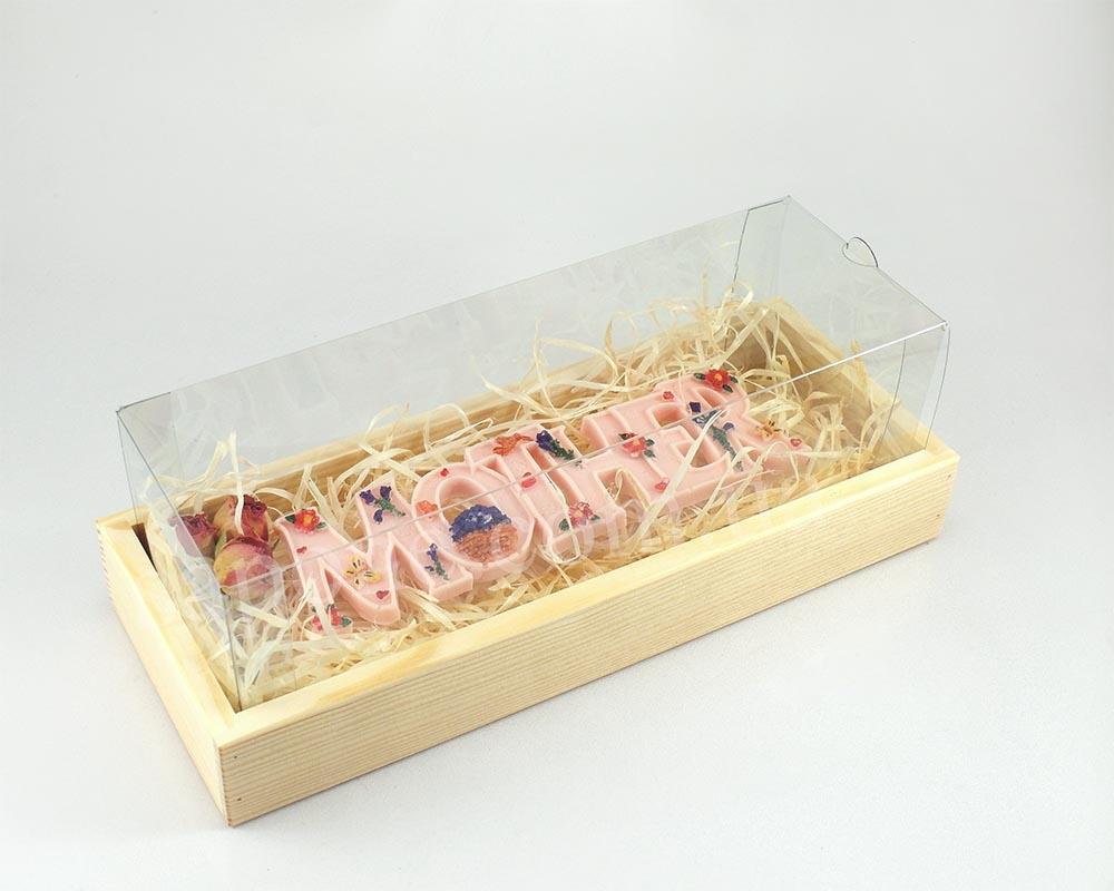 Коробка деревянная с прозрачной крышкой №3 (1 шт) - 1