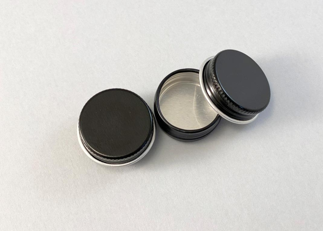 Баночка БА05-2 алюм.(с винтовой крышкой)(черная), 5 мл - 2
