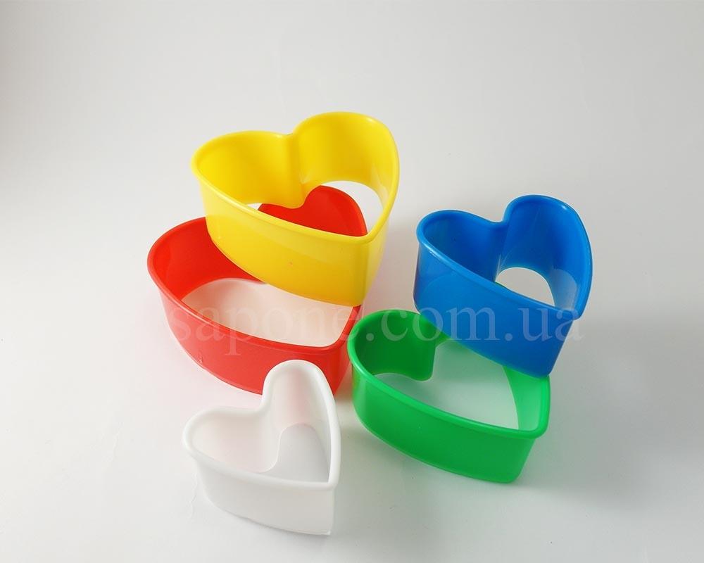 """Набор пластиковых вырубок """"Сердца"""" - 1"""