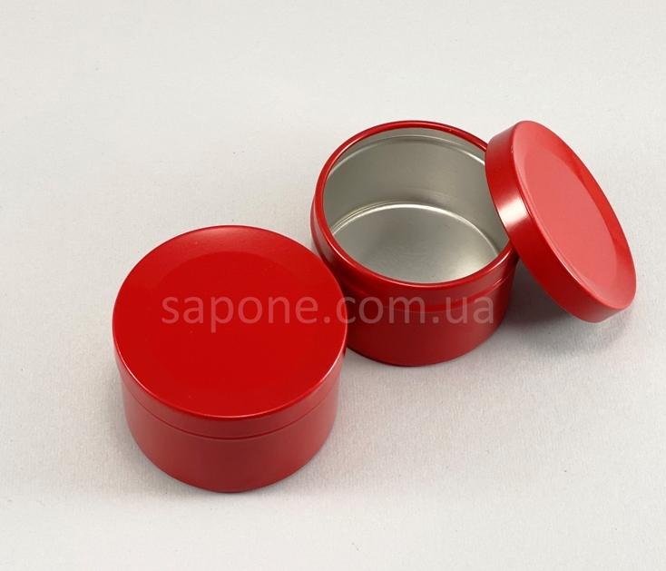 Баночка БА50-6 алюм. Цилиндр (красная без окошка), 50 мл - 2