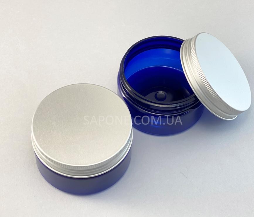 Баночка БП100-13 пластик (синяя с алюм.крышкой), 100 мл - 2